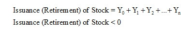 Issuance or Retirement of Stock