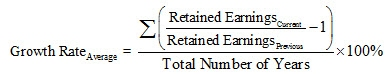 Retained Earnings Growth Rate