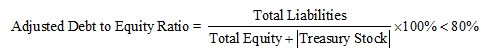 Adjusted Debt to Equity Ratio